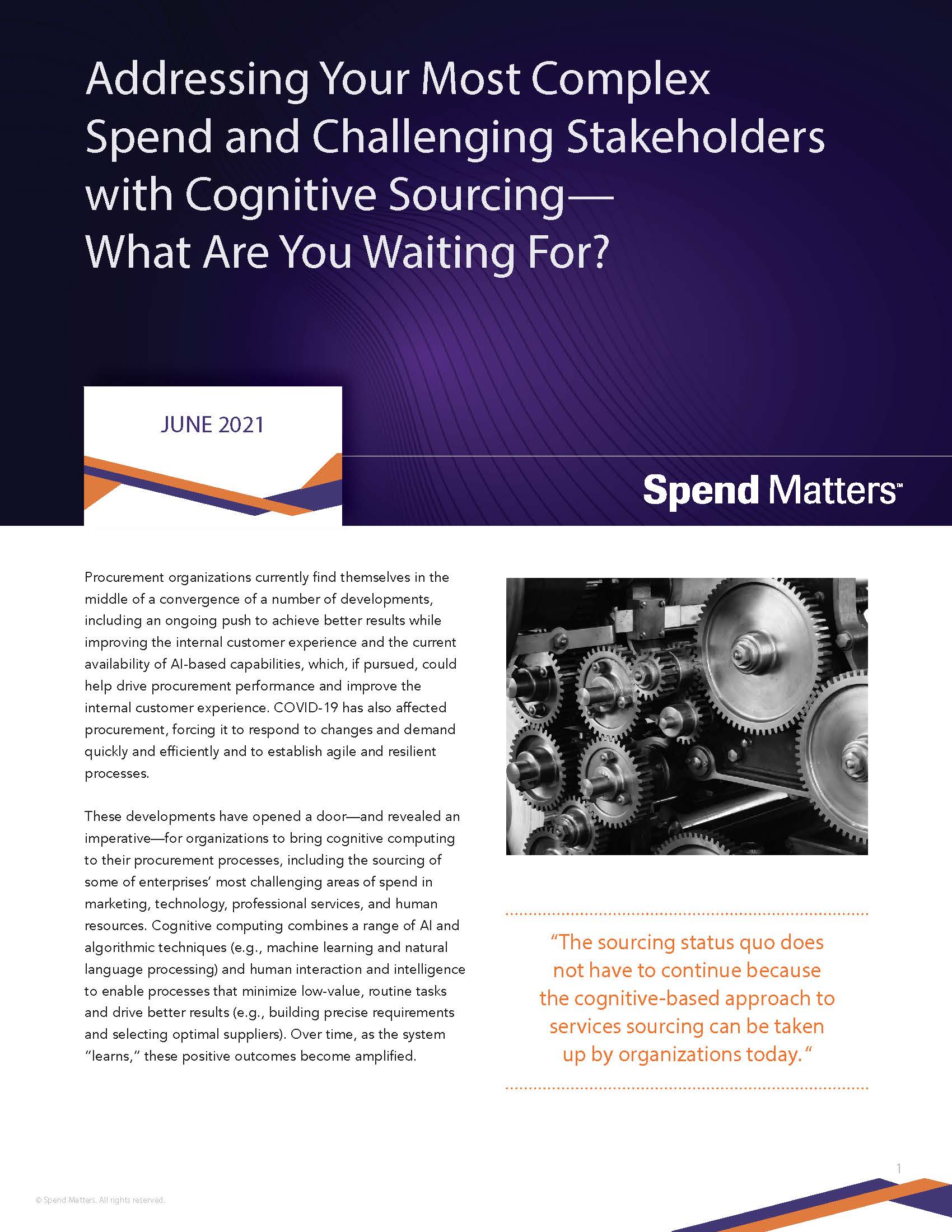 Spend Matters Globality Addressing Complex Spend and Challenging Stakeholders with Cognitive Sourcing